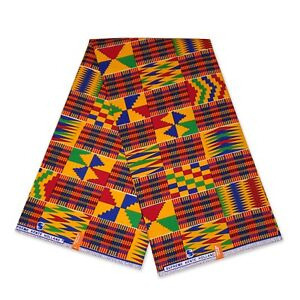 African print fabric Blue KENTE CLOTH KT-3109 Kitenge Ghana fabric by the yard