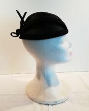 Chicer Design Damenhut schwarz Hutband Schleife feines Geflecht Umfang ca52 cm