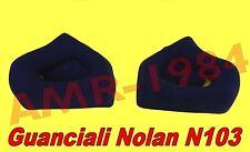 "GUANCIALI INTERNI COMFORT per NOLAN N103 TG."" XL-XXL "" ORIGINALE NOLAN SPRCP263"