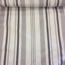 gris de Rayas Estampado 100% Algodón Cortina de Diseño Tela EXCEPCIONAL CALIDAD