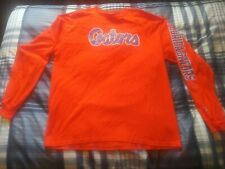 Champion Florida Gators UF Long Sleeve T-Shirt Spell Out On Sleeve Size XL