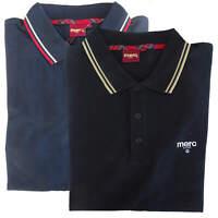 T-shirt Polo Maglia Maniche Corte MERC London 100% Cotone Uomo Men Blu Blue Nero