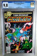 Crisis on Infinite Earths #1 NEWSSTAND D.C. 1985 CGC 9.8 NM/MT WPage Comic Q0130