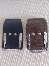 Black HAMMER FIXED LOOP  Leather Tool Belt Holder Single Saddle Steel