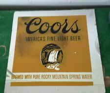 VTG Coors Beer sign PAINTED glass mirror 12x12 CARNIVAL FAIR PRIZE HARD TO FIND