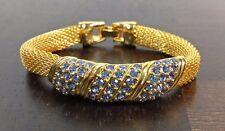Jacqueline Kennedy Camrose & Kross Simulated Tanzanite Goldtone Mesh Bracelet