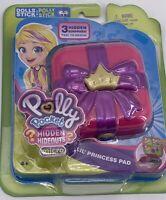 NEW Polly Pocket Hidden Hideouts Micro Lil' Princess Pad w/ 3 Hidden Surprises
