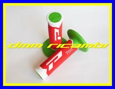Manopole Cross PROGRIP 788 Moto Scooter PitBike Enduro Motard Verde Bianco Rosso