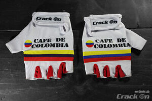 Retro Cafe de Colombia Cycling Team Half Finger Mitts Gloves