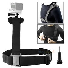 Single Chest Belt Shoulder Strap Mount for GoPro HD Hero 3 4 5 6 7 8 SJ4000 Cam