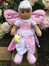 Personalised Rag Doll Goddaughter Granddaughter Christening 1st Communion Gift 2