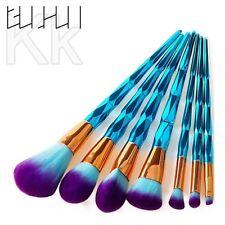 7/1pcs PRO Unicorn Diamond Make up Brushes Set Tool Powder Foundation Contour