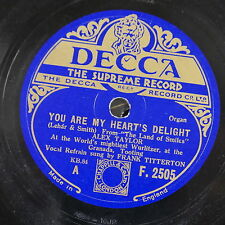 78rpm ALEX TAYLOR you are my hearts delight / i bring a love song