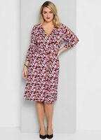 Viscose Jersey Split Sleeve Summer Ocassion Wrap Dress Size 26