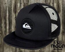 New Quiksilver Mens Snapstearn  Black Trucker Snapback Cap Hat