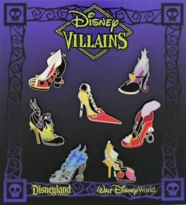 NEW Sealed Disney Parks Villains High Heel Shoes Trading Pins Complete Set LE