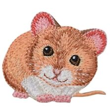 "Mouse Applique Patch - Rodent, Animal Badge 1.75"" (Iron on)"