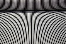 "Black White Striped Print Chiffon Poly Fabric Craft Apparel 45"" Wide #10"