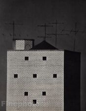 1962/72 Vintage WATER TOWER New York Brick Architecture Art ANDRE KERTESZ 11x14