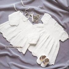 BABY'S DRESS & JACKET / birth to 9 months 3ply - COPY baby knitting pattern