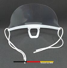 Visier Maske Gesichtsschutz Mundschutz Gesichtsvisier Spuckschutz Behelfsmaske