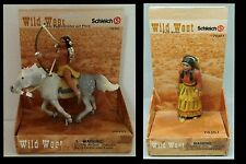 Schleich West Sioux Indian lot Mounted Buffalo Hunter Squaw Sacagawea Papoose NW