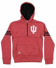 Adidas NCAA Youth Girls Indiana Hoosiers Charged 1/4 Zip Hoodie