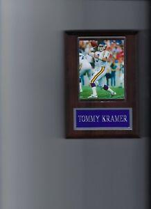 TOMMY KRAMER PLAQUE MINNESOTA VIKINGS FOOTBALL NFL