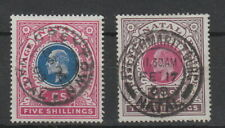 Natal 1902 5/- and 10/- fine used . SG 140 , 141
