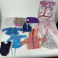 """Huge Lot 18"""" doll clothes outfits dresses jacket swimsuits (AS IS)"""