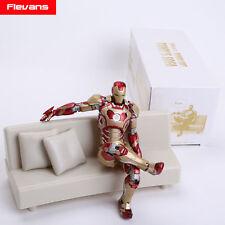"""Iron Man-Mark 42 con sofa 15 cm - Collection figure Tony´s sofa 6"""" in box"""