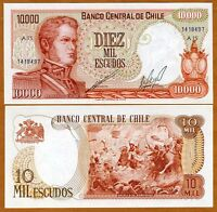 Chile, 10000 (10,000) Pesos, ND, Pick 148 A1 serie, UNC