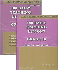 Easy Grammar Ultimate Series: 180 Daily Teach Grade 10 SET of 2