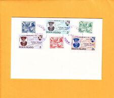 Great Britain HERM ISLAND WWII Liberation Churchill FDC 1965 May 9 + Insert  L