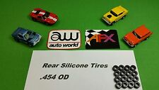 ☆16 Silicone Tires☆ For Afx Aurora Magnatraction & Auto World Ho Slot Car Parts