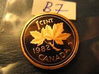 Canada 1982 Gem BU Penny From Mint Set ID#B7.