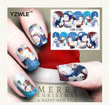 New Nail Art Sticker Water Transfer Stickers Christmas 3D Decoration Flower E22