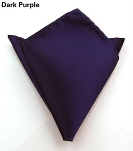 Men's Satin Silk Pocket Square Hankie Hankerchief Wedding Party Formal Suit