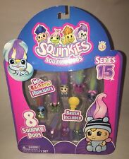 Squinkies Squinkie Doos 8 Piece Bubble Pack Series 15 VERY RARE!! NEW
