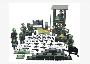 Action Bricks Army Minifigures Boarders and Towers 8 Minifigures Set Compatible