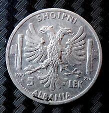 Moneta 5 Lek Albania Vittorio Emanuele III    ( A005 )