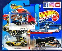 HOT WHEELS - Lot of 3 - (1) 2013 SHORT CARD HIWAY HAULER - Cabbin Fever - E106