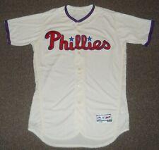 Philadelphia Phillies Crème Authentic Flex Base Jersey sz 44 Majestic New Mens