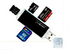Schwarz Alu Kartenleser USB 2.0 Micro SD MMC SDHC M2 Speed Card Reader Adapter