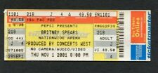 Britney Spears 2001 Unused Concert Ticket Columbus OH Dream Within A Dream Tour