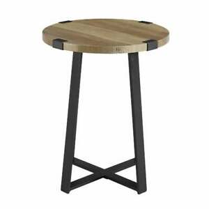 Handmade MDF Top Metal Side End Round Table Home And Office Decoration