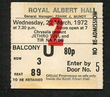 1972 Jetrho Tull Tir Na Nog Concert Ticket Stub London UK Thick As A Brick