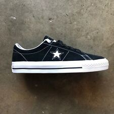 3e0909493193 CONVERSE ONE STAR PRO OX SUEDE (BLACK WHITE WHITE) SIZE  6
