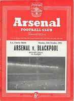 Arsenal v Blackpool, 1953/54 - Charity Shield Match Programme.