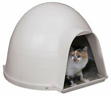 Cat House Outdoor Feral Igloo Warm Dry Shelter Durable Bed Carpeted Floor Indoor
